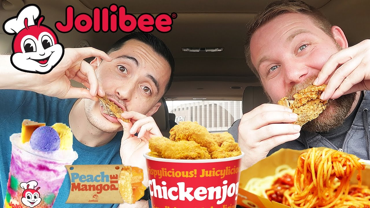 JOLLIBEE MUKBANG Filipino Fast Food