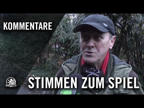 S.Sperlich (SC Bor. Friedrichsfelde) und K.Yilmaz (SC Minerva) - Stimmen zum Spiel   SPREEKICK.TV