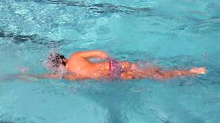 Fast Swimming 200 Yards Freestyle
