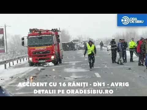 Accident grav pe Dn1 la Avrig