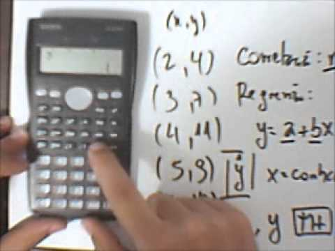490b9b3450de Correlação e Regressão Linear na Calculadora Casio fx-82MS - YouTube