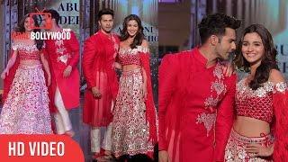 Varun dhawan and alia bhatt ramp walk | @fevicol 'caring with style'