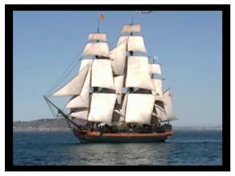 HMS SURPRISE ON THE OPEN SEA - 18th Century Royal Navy Frigate Sails Again