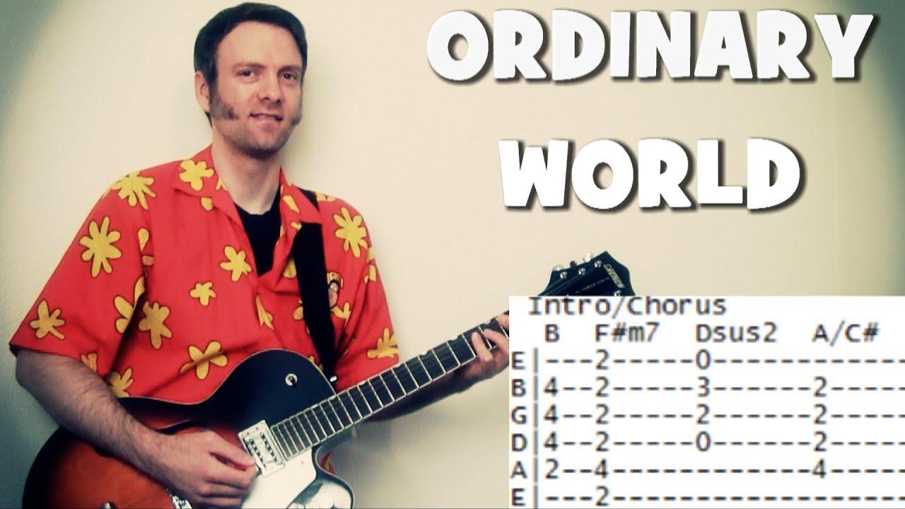Duran Duran Guitar Tabs Chords For Ordinary World Youtube