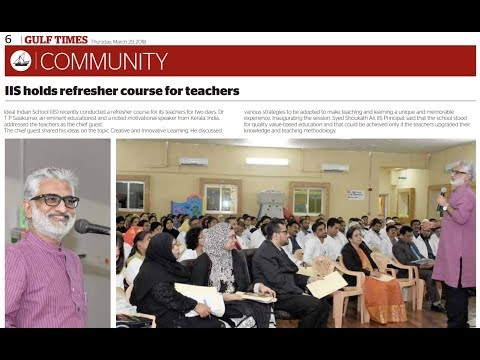 180328 Doha IIS Teachers Interaction DrTPS
