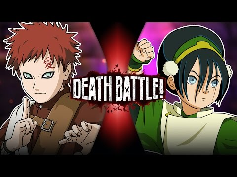 Gaara VS Toph (Naruto VS Avatar) | DEATH BATTLE!