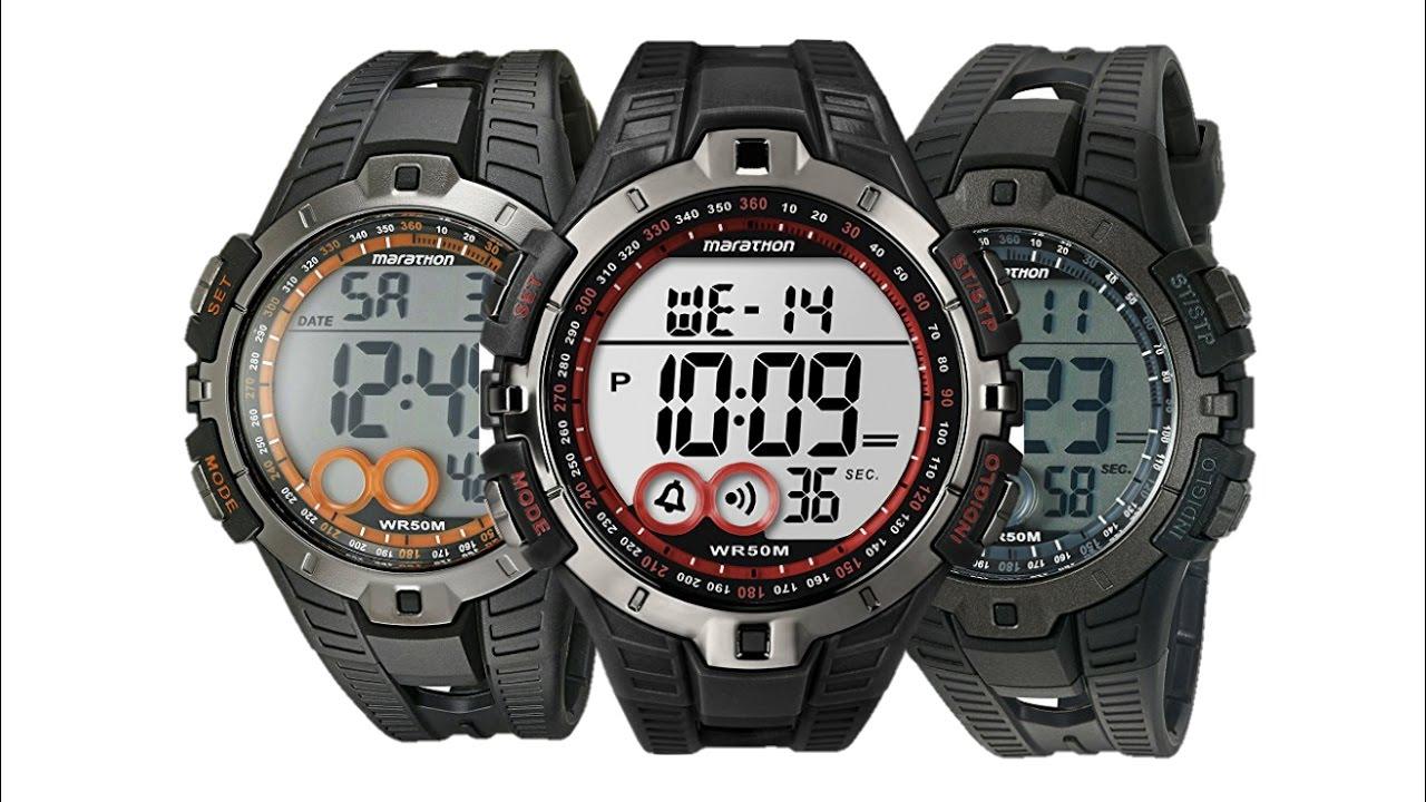 cc18bc1ba Marathon by Timex Men s T5K801 Digital Full Size Sport Watch - YouTube