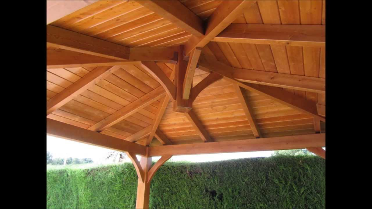 Cenador pergola youtube for Cenador para jardin