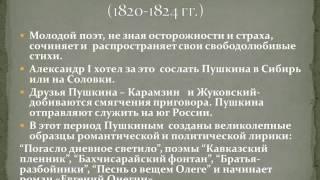 Жизнь и творчество А.С Пушкин