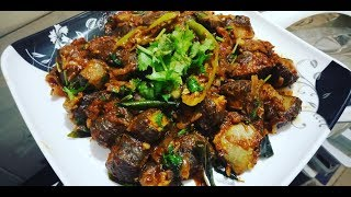 Spleen Fry/Goat Suvarotti varuval/Manneeral Varuval/ Goat Spleen Dry Gravy