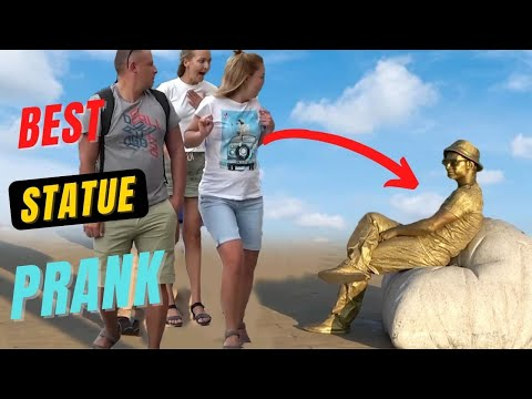 Best Human Statue Prank Compilation | Best of Just For Laughs - AWESOME REACTIONS