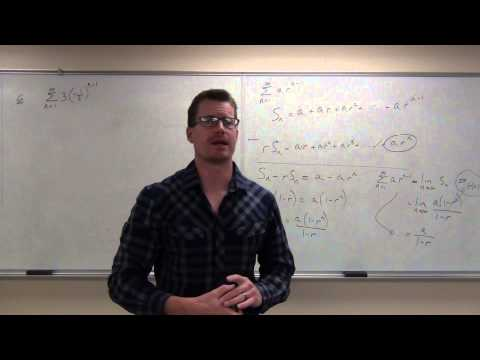 Calculus 2 Lecture 9.2:  Series, Geometric Series, Harmonic Series, and Divergence Test