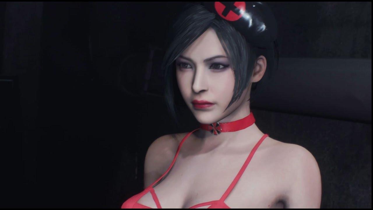 Resident Evil 2 Mod Ada Wong Black & Red Bikini Doctor 4K UHD