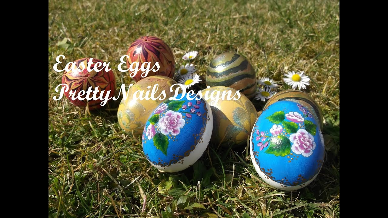 Ideas For Decorating Easter Eggs Water Marbling And One Stroke