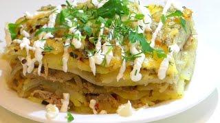 ЗАПЕЧЕНЫЙ КАРТОФЕЛЬ С МЯСОМ. Potatoes with meat.