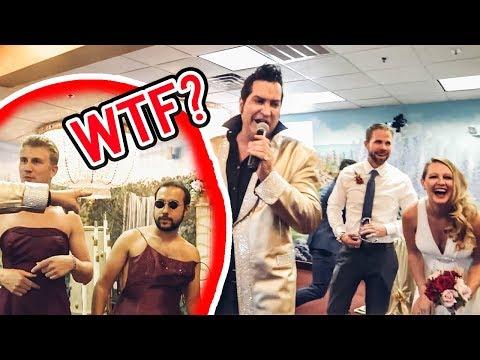 ASKING STRANGERS TO CRASH THEIR WEDDING (Epic Vegas Party)