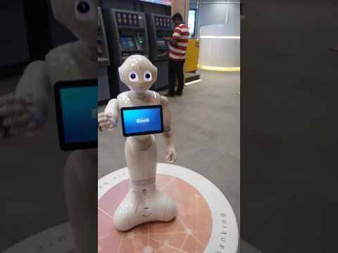 Enbd Pepper Robot Dancing at Dubai Mall ENBD Branch