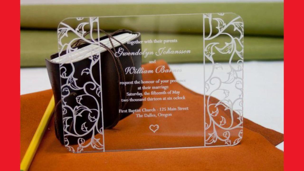 Acrylic Wedding Invitations YouTube