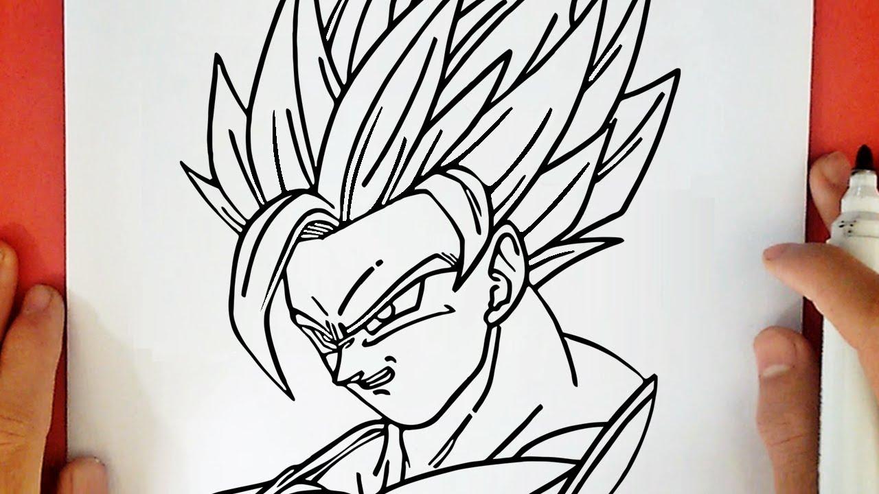 50 Imágenes De Goku Para Dibujar: COMO DIBUJAR A GOKU SUPER SAYAYIN 2 DE DRAGON BALL Z