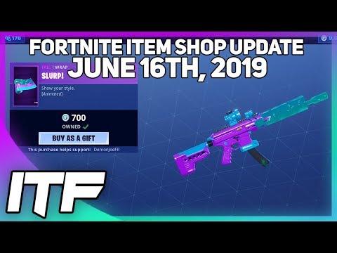 Fortnite Item Shop *NEW* SLURP WRAP! [June 16th, 2019] (Fortnite Battle Royale)