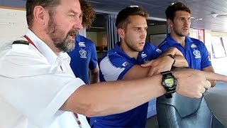 March 05, 2015 - North Melbourne players get in the Spirit