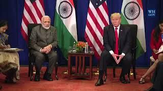 PM Shri Narendra Modi & President Trump in a Bilateral Meeting at Manila, Philippines : 13.11.2017