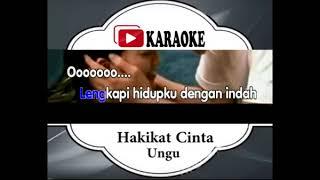 Lagu Karaoke UNGU BAND HAKIKAT CINTA POP INDONESIA Official Karaoke Musik Video