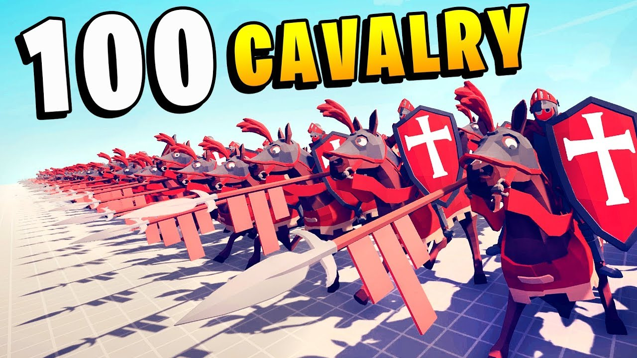 TABS – 100 CAVALRY HORSE Charge! What Can Stop It? – Totally Accurate Battle Simulator