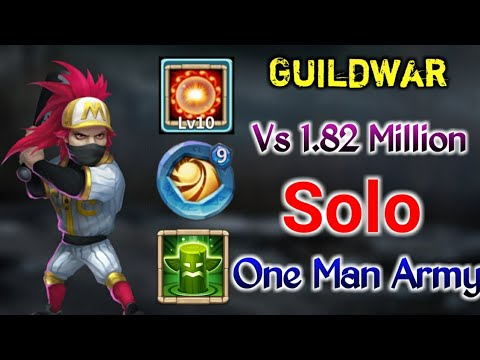 Guildwar | Best Build Ronin | Solo Guildwar | Vs Rank 3 Player(1.82m Might) | Top-5 | Castle Clash