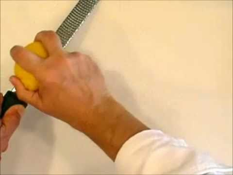 Knife Skills - Zest & Juice a Lemon