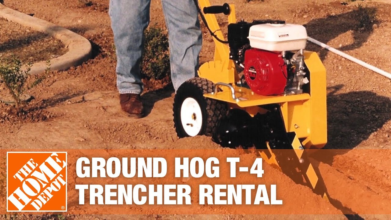 Ground Hog 18 In Trencher The Home