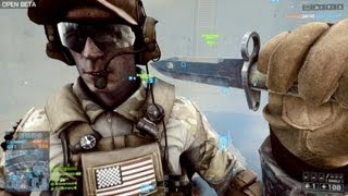 Battlefield 4 Knife Montage : Knife Counter , Knife Rejection, Knife Animations