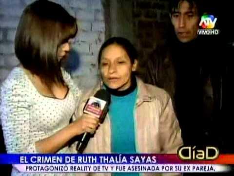 Crónica: La vida y muerte de Ruth Thalía Sayas