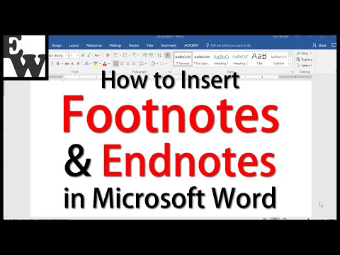 How to create a footnote in microsoft word