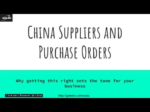 Purchase Order Specificity: Making Sure Your Supplier is CRYSTAL Clear