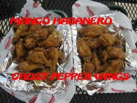 24 Mango Habanero Ghost Pepper Wings (Clay's SW Flavors; Portland, OR)