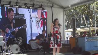 Floanne singing 1 song in Bryant Park for Taste of France Celebration