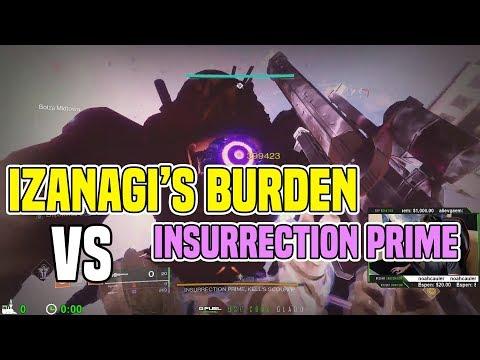 Izanagi's Burden Sniper vs. Insurrection Prime Boss   Destiny 2 thumbnail