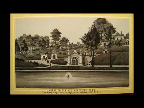 Green Wood Cemetery Antique Prints 1887
