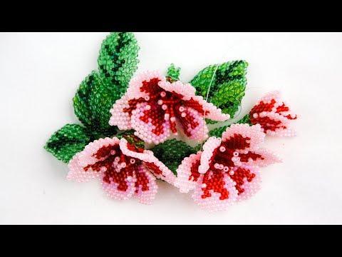 Мастер класс цветы кирпичным плетением из бисера