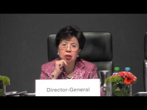 Dr Margaret Chan at the WHO Regional Committee for Europe