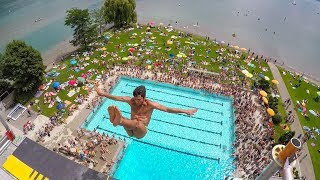HIGH DIVING show in Thun and EXPLORING / PLAYING around !