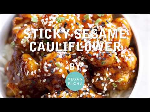 STICKY SESAME CAULIFLOWER Gluten-free   Vegan Richa Recipes
