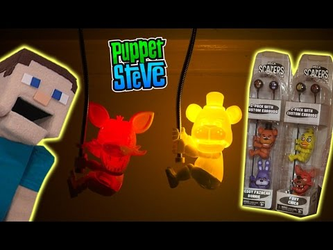 Five Nights at Freddy's FnaF NECA Scalers & Light Up Glow in the Dark  Unboxing