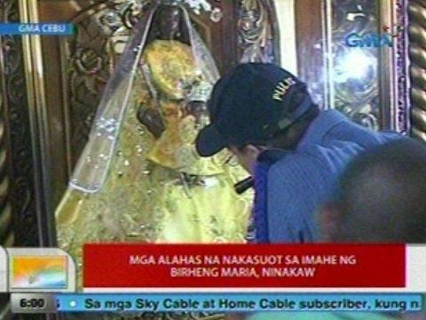 UB: Mga alahas na nakasuot sa imahe ng Birheng Maria sa Cebu, ninakaw
