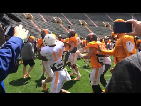 Tennessee football practice (April 2, 2016)