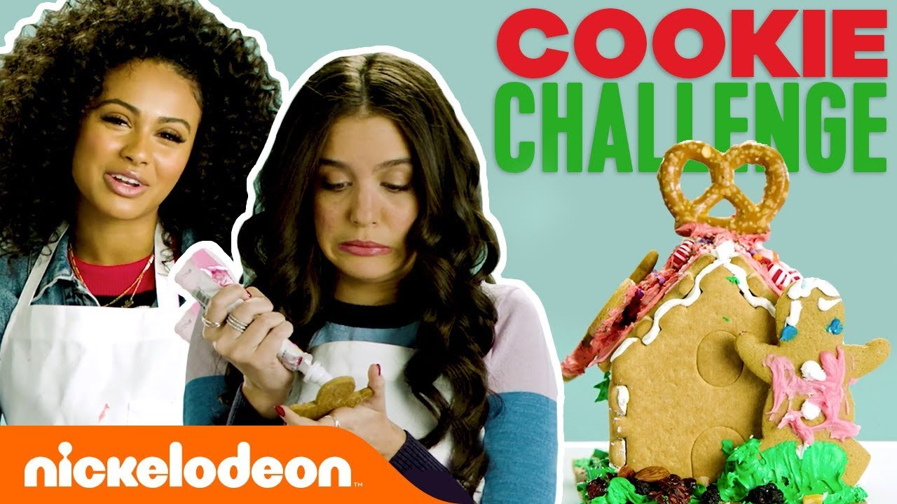 Gingerbread Cookie Challenge w/ Daniella & Lilimar | #TryThis