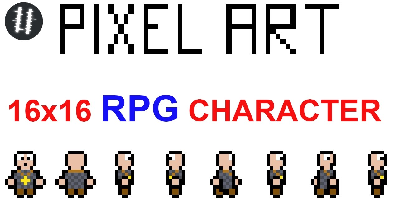 how to pixel art tutorials 15 16x16 rpg character 4 sides