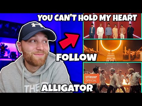 REACTING TO MONSTA X (몬스타엑스)- YOU CAN'T HOLD MY HEART 'Alligator' MV  'FOLLOW' MV