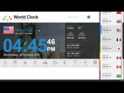 Windows 8.1 World Clock Time Zones app review